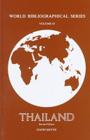 Thailand (World Bibliographical Series)