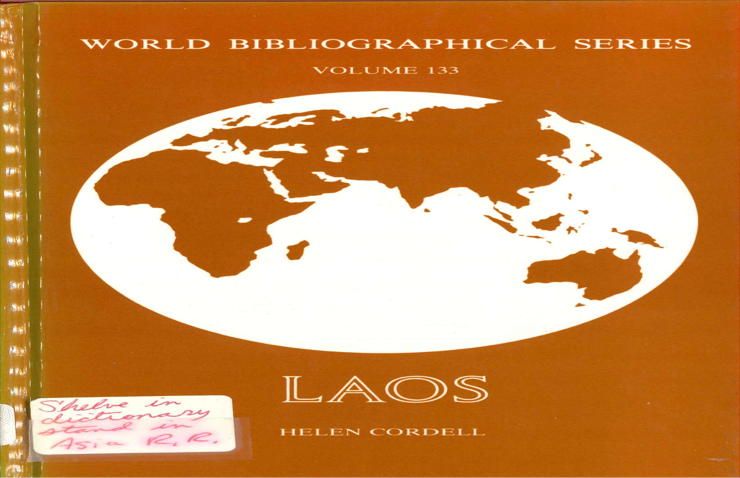 Laos (World Bibliographic Series)